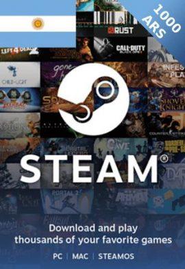 1000 ARS Steam Wallet code Argentina - ARS Steam gift card