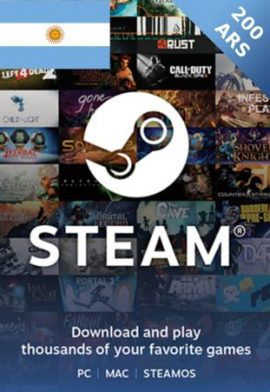200 ARS Wallet Steam Gift Card Argentina