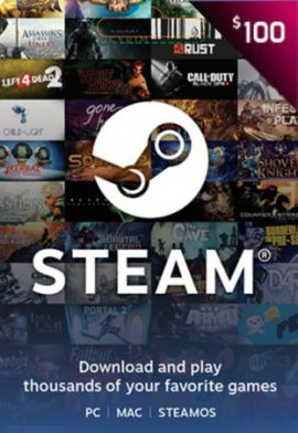 100 USD Wallet Steam Gift Card US