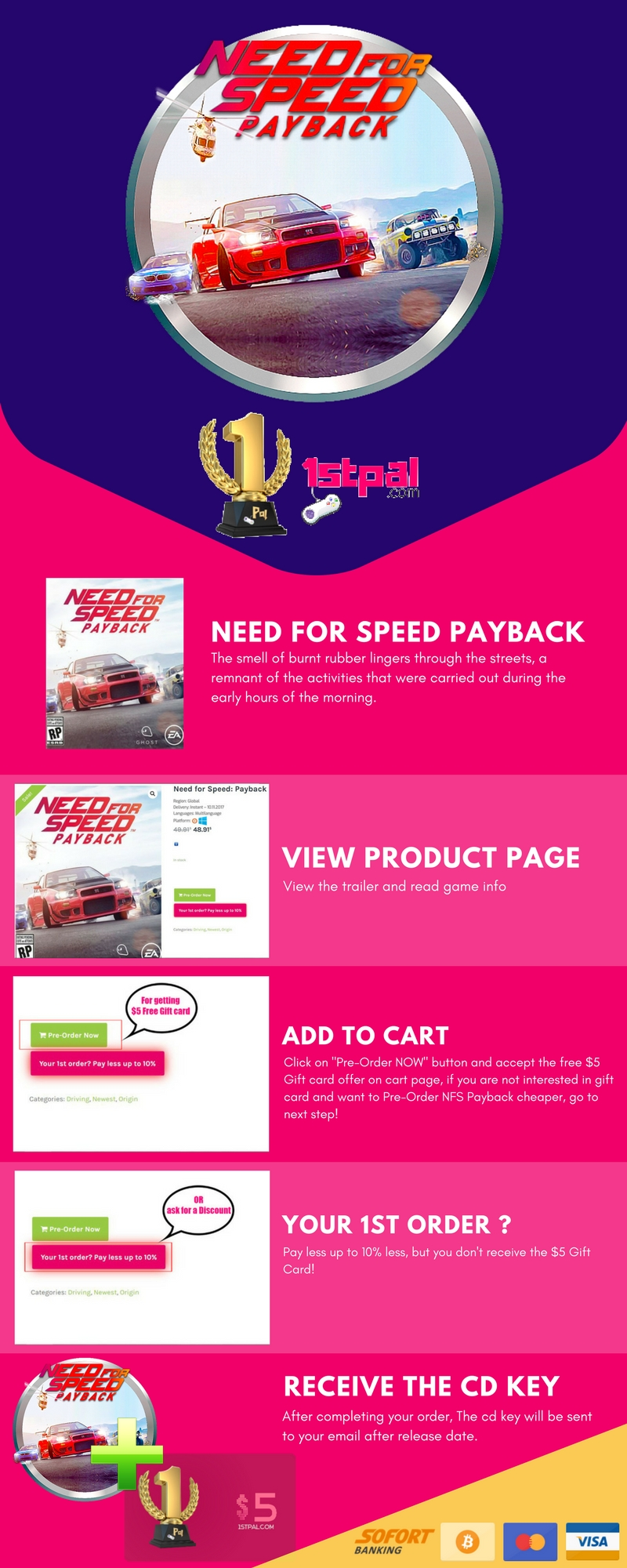 NEED FOR SPEED PAYBACK PC Key - Giveaway