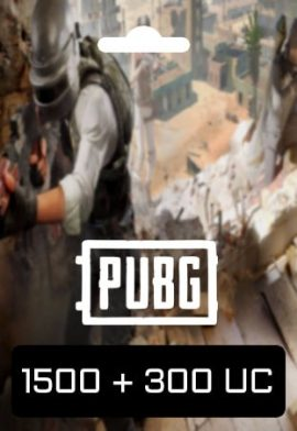 PUBG Mobile 1500 + 300 UC Key code
