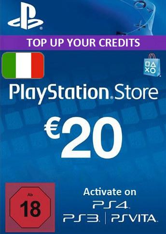 Playstation 20 Italy code